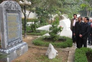 Ô. Trương Tấn Sang, ủy viên Bộ Chính Trị, trong lễ khánh thành bia đá