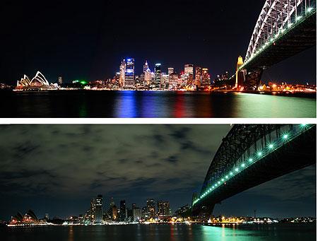 Sydney trước và trong Giờ Trái Đất