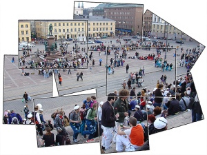 Chuẩn bị cho 1/5, Senaatintori square, Helsinki, Finland