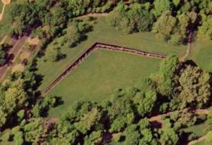 Vietnam Veterans Memorial chụp từ vệ tinh
