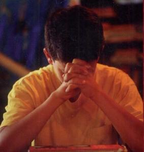 student_praying