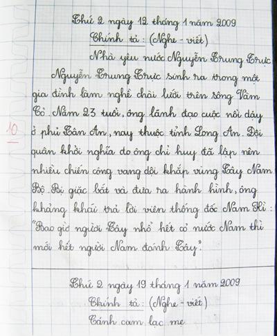 Chữ viết của Thắm