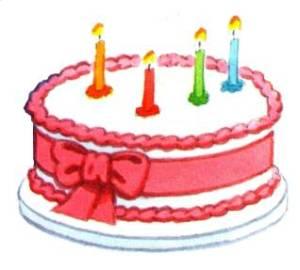 Cake 4 candles