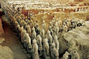 Tượng binh tướng trong mộ Tần Thủy Hoàng