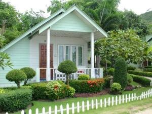 Tiny White Cottage