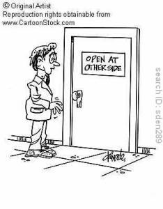 Open door policy :-)