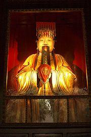 Tượng Lưu Bị (nước Thục) tại đền thờ ở Tứ Xuyên