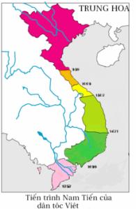 Tiến trình Nam Tiến của dân tộc Việt.