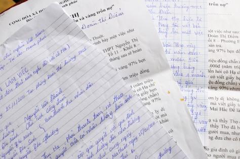 Một số đơn thư khiếu nại cô Hạ nợ nần