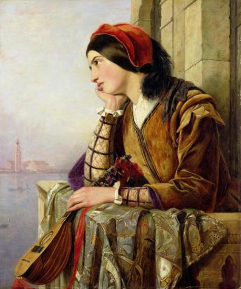 Woman in love - Tranh Henry Nelson O'Neil 1856