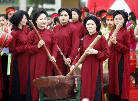 Các phường xoan tham gia Lễ hội Đền Hùng