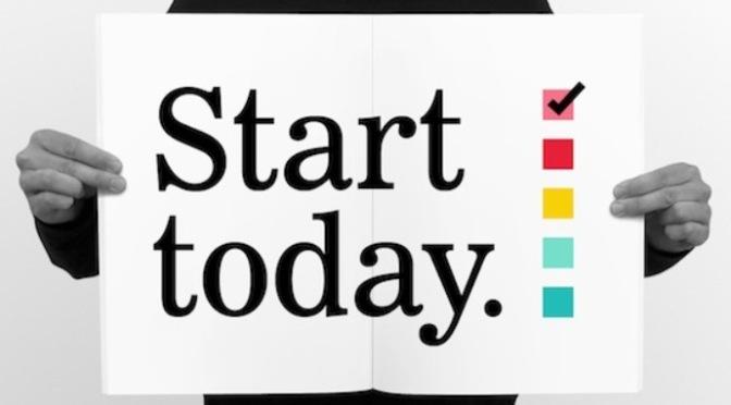 Bắt đầu ngay từ hôm nay