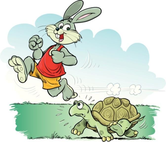 Nếu thỏ chạy thì rùa phải làm sao?