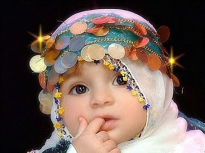 Cute Muslim Baby Girl wallpaper