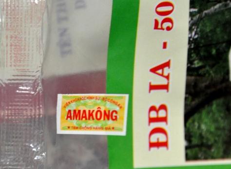 Tem chống hàng giả có tên Ama Kông