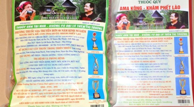 Tem chống hàng giả cho thuốc Ama Kông