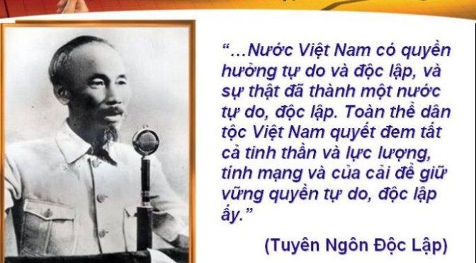 Ngày Quốc Khánh bàn về tự do*