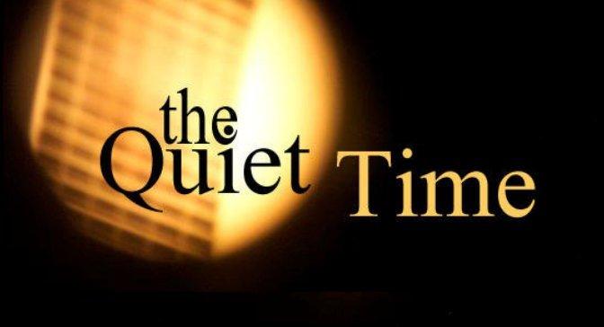Phút tĩnh lặng với Chúa