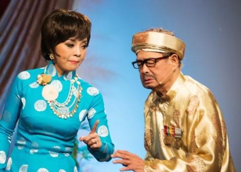 Nghệ sĩ lão thành Văn Chung, người sáng tạo nụ cười dê xòm độc nhất vô nhị.