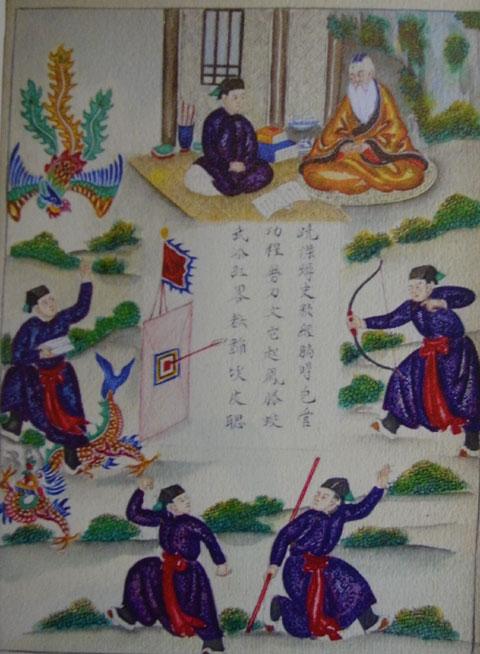 Bản thảo truyện Lục Vân Tiên bằng tranh vẽ trong khoảng 1915 - 1919 được giới thiệu lần đầu tiên tại Idecaf, TP HCM.