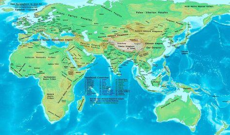 Chân Lạp-Phù Nam, vào năm 600.