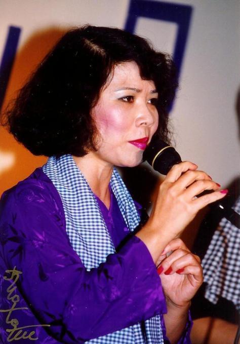 Nghệ sĩ Linh Phượng trong tiết mục trình diễn Hò Đối.
