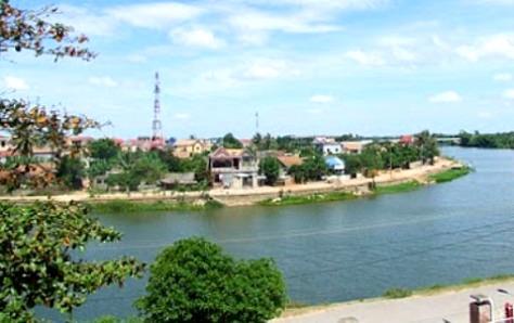 Một góc sông Kiến Giang, huyện Lệ Thủy