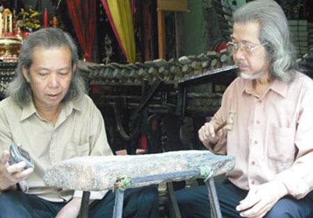 Nghệ sĩ Nguyễn Chí Trung và Nguyễn Đức Lộc
