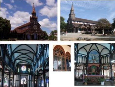 Kiến trúc độc đáo Nhà thờ gỗ.