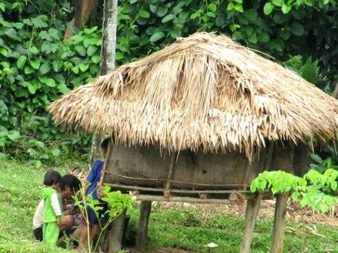 Phụ nữ Chơ Ro sinh con trong chòi được dựng ngay trong vườn nhà.