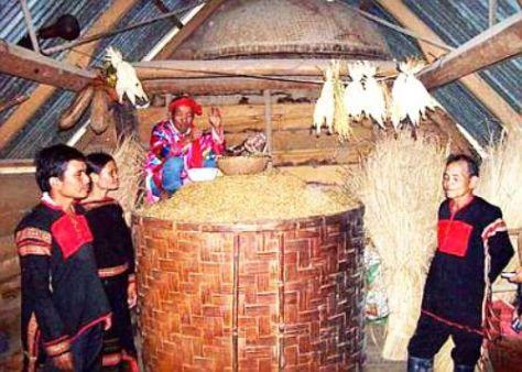 Lễ cúng thần lúa ở buôn T'Liêr (Hòa Phong, Krông Bông, Đắc Lắc). (ảnh KT)
