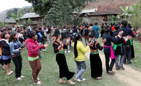 Lễ hội Cầu mưa của bà con dân bản ở Nong Lay (Sơn La).