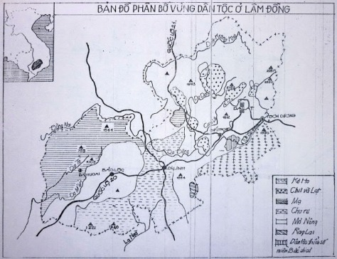 Bản đồ các dân tộc nằm trong thị trấn ĐẠTẺH - huyện DATEH - Tỉnh Lâm Đồng.