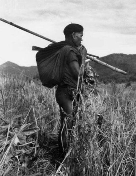 Gọi dẫn hồn lúa về trong nghi lễ nông nghiệp. Ảnh Georges Condominas.
