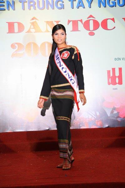 Sơn nữ M'Nông trong một cuộc thi Hoa Hậu Dân Tộc.