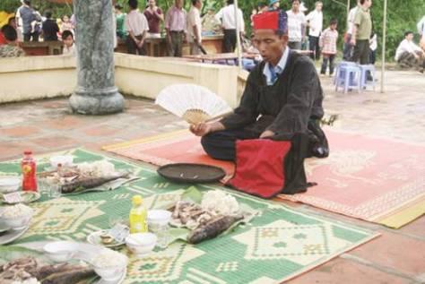 Lễ thờ cá của người Mường.