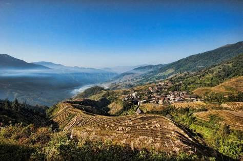 Bình An, một ngôi làng của người Tráng trên Ruộng Bậc Thang Long Thắng.