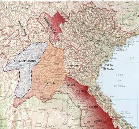 Bản đồ Trấn Ninh năm 1893.