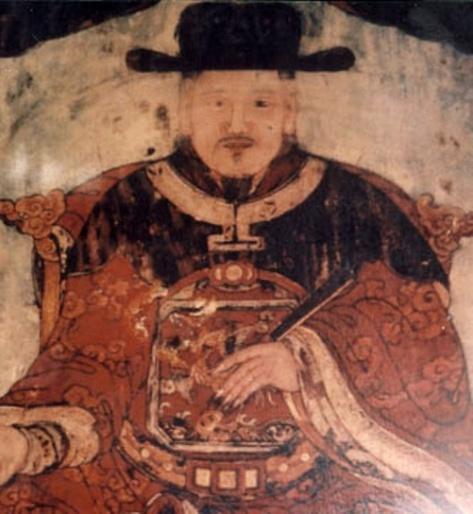Tranh vẽ Vua Lê Thánh Tông.