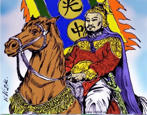 Tranh vẽ Vua Quang Trung.