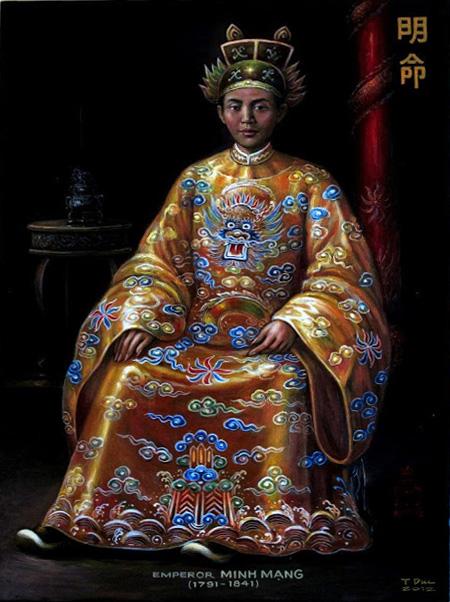 Tanh vẽ Vua Minh Mạng.