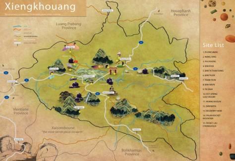 Bản đồ Xiêng Khoảng (Xieng Khouang)
