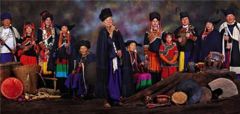 Tộc Di (Yi) ở Yunnan, Sichuan, Guizhou - Trung Hoa.
