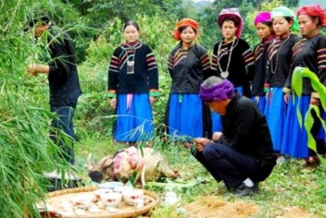 Lễ cúng rừng của người Pu Péo.