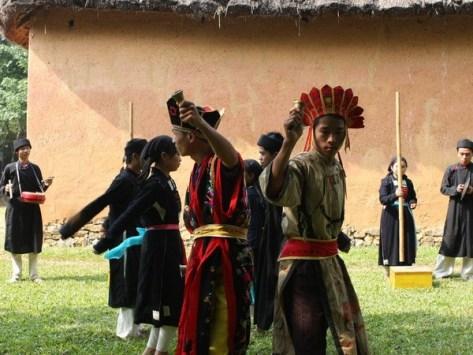 Lễ cấp sắc đánh dấu sự trưởng thành của đàn ông Sán Chay.