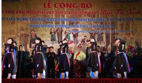 Múa tắc xình được công nhận là di sản văn hóa phi vật thể cấp quốc gia.