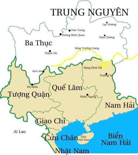 Bản đồ Lĩnh Nam.
