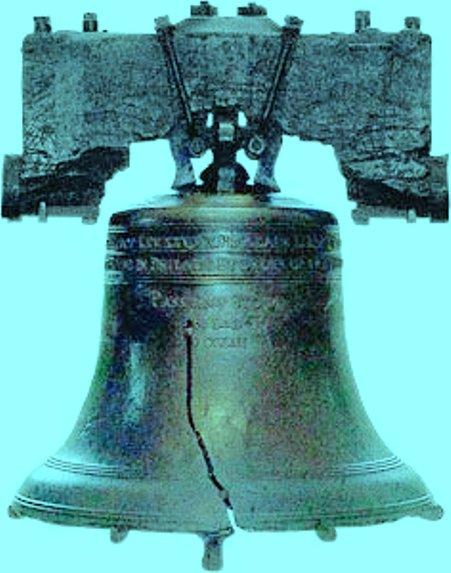Chuông Liberty Bell ở Philadelphia, Pennsylvania , USA.