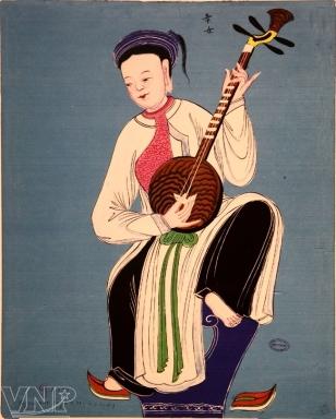 Image result for hình ảnh người kỹ nữ đàn nguyệt