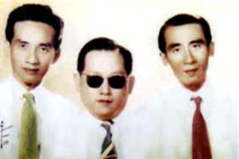 Bộ ba danh cầm Cổ Nhạc Miền Nam: Bảy Bá - Văn Vĩ - Năm Cơ.